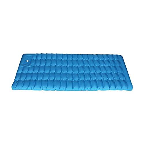 XIXIDIAN Almohadilla para Dormir, Almohadilla de Dormir Inflable para Acampar, Bomba de pie Rápida inflación y deflación, para Carpa, Senderismo y mochilero (Color : Blue)