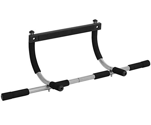 Photo of EAR PADZ Pull Up Bar Door Frame Mounted Upper Body Multi Training Bar Heavy Duty Doorway Upper Body Workout Bar with Soft Handles Up to 100kg for Home Gyms