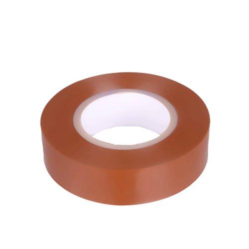 K24–Klebebänder–Nastro isolante in PVC 10metri di lunghezza 15mm di larghezza–marrone -