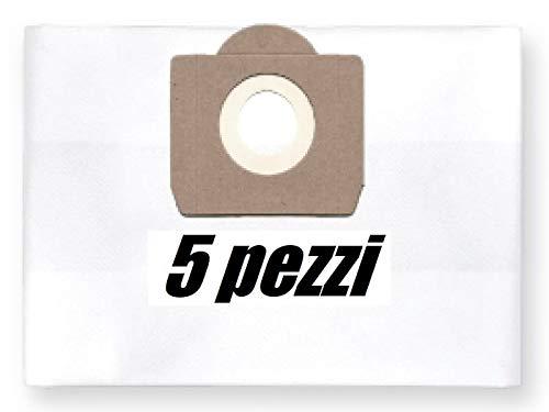 5x Sacchetti per aspirapolvere in tessuto GISOWATT Competitor 20 wet & dry