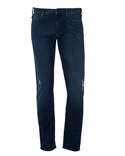 Emporio Armani Jeans Distressed Denim J06 Slim Fit Gr. 32 Lange, blau