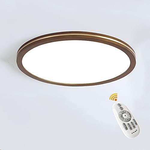 Kairry LED Lámpara de Techo Regulable 18W, 1530LM Moderna Plafón LED de Techo Madera, Redondo Ultra Delgado Luces LED Techo, para Habitacion Cocina Sala de Estar Dormitorio Comedor Balcón, Ø30cm