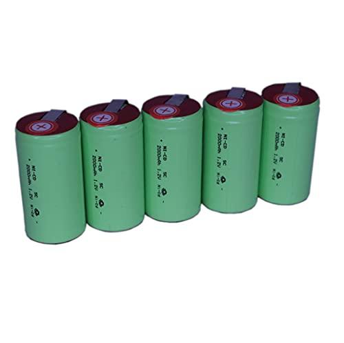 正規容量 国内から発送 22.5x43mm NI-CD Sub-C SC ニカド ニッカド ミニ単2 サブC セル エアガン 電動ガン ドライバー ドリル 工具 掃除機 充電池 バッテリー (5)