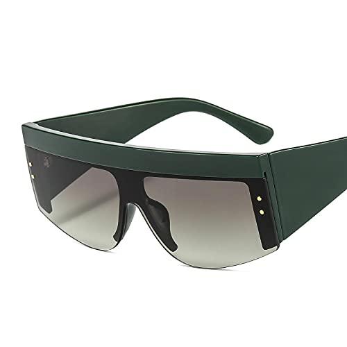 Gafas de Sol Sunglasses Gafas De Sol Cuadradas De Moda para Mujer Gafas De Sol con Montura Grande De Calle Vintage para Hombre Gafas De Sol con Lente Plateada con Persona