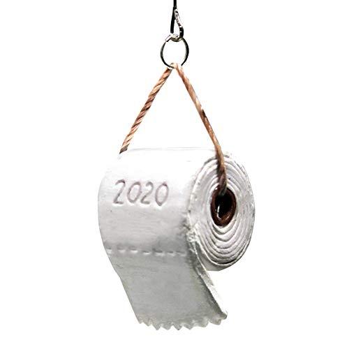 Sallyohno Christbaumschmuck 2020 Lustig Geschenk Weihnachten Baum Hängend Toilette Papier Krise Ornament Dekoration (B 1 PCS)
