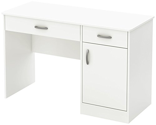 South Shore Small Computer Desk with Drawers,...