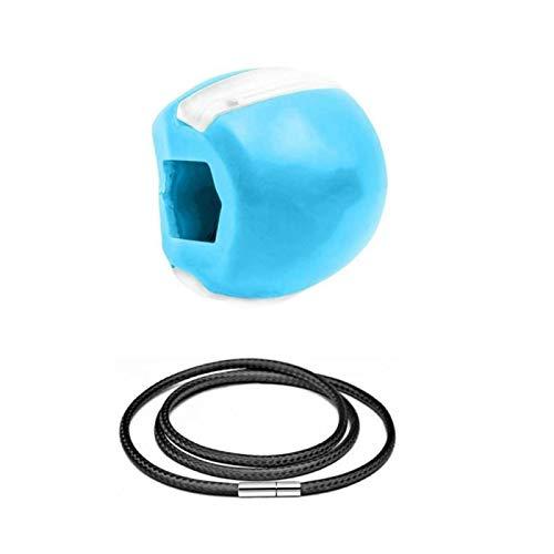 3/1 Stück Kiefer-Gesichtsübungskugel Nahrungsmittelkiesel-Kieselgel-Muskel-Training Fitness-Ball-Nacken-Gesicht toning mit Hilfsseil (Color : Blue)