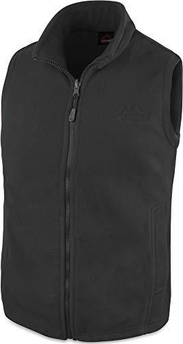 280 g/m² Herren Fleeceweste für den Übergang mit Taschen und Stehkragen - leicht, elegant, funktional Farbe Anthrazit Größe L