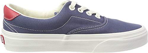 Vans Unisex-Erwachsene Era 59 Sneaker, Blau (Vintage Indigo/rococco Red Qkj), 39 EU
