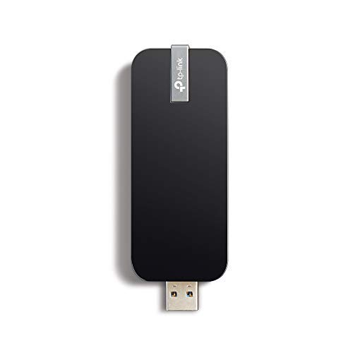 TP-Link Archer T4U AC1300 Dual Band WLAN Adapter (AC-Speed bis zu 867 Mbit/s, USB 3.0, WPS, mit USB-Verlängerungskabel, Windows 8.1/8/Vista/7/XP) schwarz