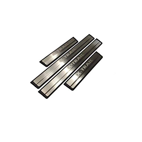 4pcs Car Stainless Steel Door Sill Protector for Rogue X-Trail T32 2015-2020, Anti-Scratch Outer Welcome Pedal Kick Plates Scuff Plate Sticker Accessories