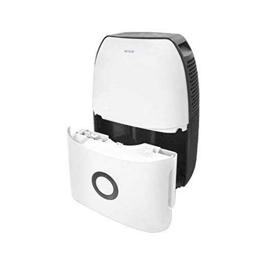 EcoAir DC18 Compressor Dehumidifier - 18 liters per day, 3.5 L water tank, plastic, Timer, Quiet at only 43 dB(A) and Auto Defrost