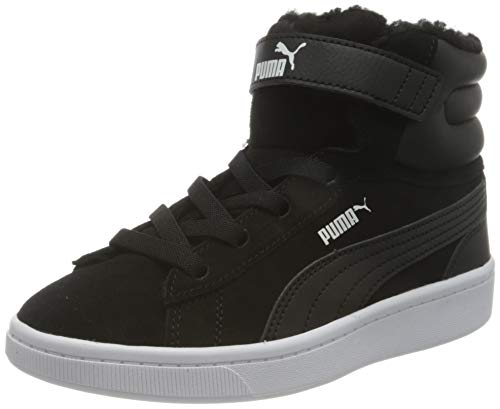 PUMA Vikky V2 Mid Fur V PS, Zapatillas Niñas, Negro Black White, 31 EU