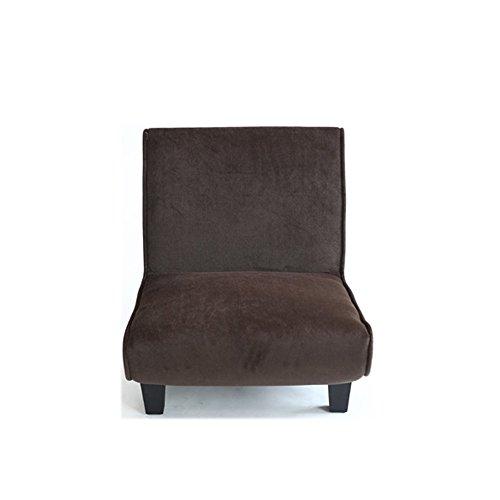 Chaises longues-Tissu créatif Unique Petit canapé à la Mode Fenêtre Flottante Balcon Chambre Canapé Paresseux -Applicable à l'intérieur et à l'extérieur (Couleur : Dark Coffee)