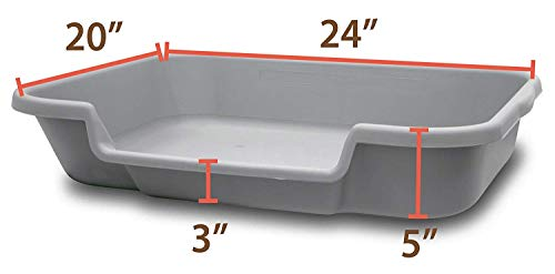 dimensions of litter box