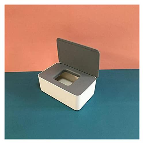 Caja De PañUelos Caja de tejido húmedo Sello Toallitas Papel Caja de almacenamiento Dispensador Titular de Dispensador Plastico Polvo a prueba de polvo con organizador de tapa para cocina Caja PañUelo
