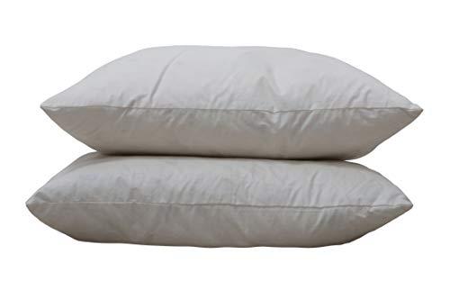 Original Sleep Company Bedding Direct UK – Coussin en Plumes de Canard 38,1 cm, 40,6 cm, 45,7 cm, 61 cm, 66 cm, 32, 100% Coton Coton, Blanc, 16\