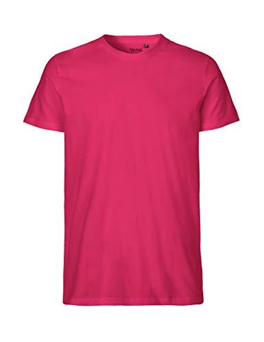 -Neutral- T-Shirt, 100{cb4b580eab887b8d83978ae7d7a201ab733262d3bef7b0a91682eb332dcc995a} Bio-Baumwolle. Fairtrade, Oeko-Tex und Ecolabel Zertifiziert, Textilfarbe: pink, Gr.: XL