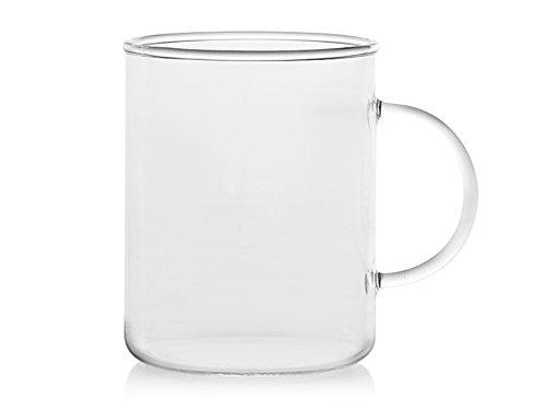 Desconocido H&H Borosilicato Taza Mug en Borosilicato de 40 cl, Transparente