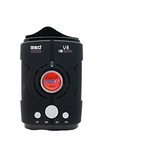 Rilevatore radar per auto, MACHSWON Rilevatore radar laser LED V8 a 16 bande con rilevamento a 360 gradi, sistema di allarme vocale e modalità velocità città autostrada, inglese e russo