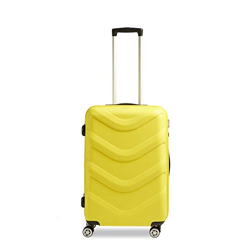STRATIC Arrow 2 Hard Shell Suitcase Trolley Travel Suitcase Trolley Suitcase 4 Wheels TSA Combination Lock Size M Yellow