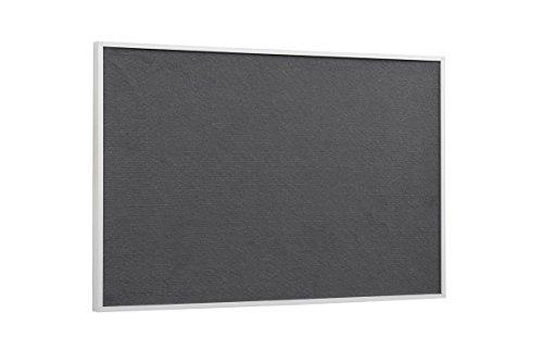 Bi-Office Pinnwand New Basic, Grauem Filz mit Weißem Holzrahmen, 885x585 mm