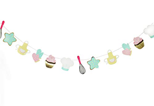 Little Bakers Party - Garland   Kids Baking Party Decorations   Cupcake Party