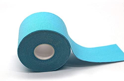 Kt-Tape Rolls, Athletic Muscle aid KTape, Compression Waterproof Knees, Shoulder Brace, Kinesiology Blister preventing K Tape (Blue 3 Pack))