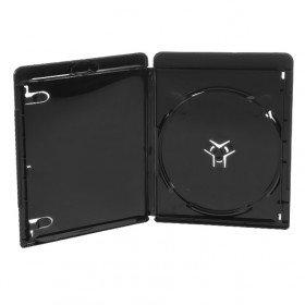 Amaray Blu-ray Hüllen, 11 mm Slim, Maschinen-Pack-Qualität, Schwarz, 50 Stück