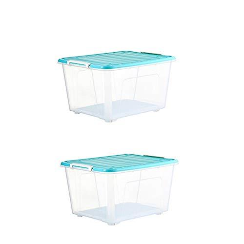 Libros para niños Caja de almacenamiento transparente, Almohada Ropa Suéter Caja de almacenamiento Armario Oficina Contenedor Debajo de la cama Caja de almacenamiento con hebilla de plástico Apto para