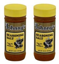Johnny's, Seasoning Salt, 16oz Bottle (Pack of 2)