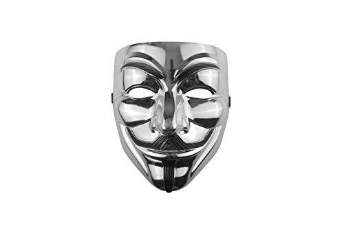 Udekit Hacker Maske V Für Vendetta Maske Für Kinder Frauen Männer Halloween Kostüm Cosplay Silber