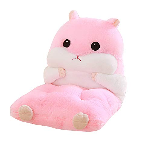 Moonvvin Detachable Cute Hamster Plush Chair Cushion Soft Back Pillow Upgrade Reading Support Pillow Sturdy Read Work Support Seat Cushion