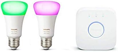 Philips Hue starterkit - wit en gekleurd licht - E27 - 2 lampen