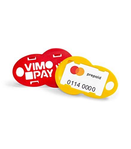 VIMpayGo V2: Die kleinste MasterCard der Welt mit Vier Schlüsselanhängern mit integriertem Einkaufswagenlöser I Bunte NFC-Schlüsselanhänger für EIN bargeldloses Leben