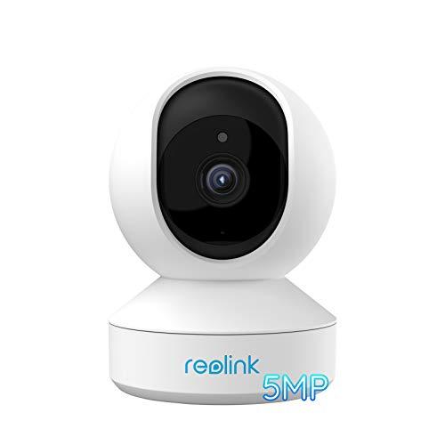 Reolink 5MP PTZ Überwachungskamera WLAN Kamera Innen, 355°/50° schwenkbare WiFi IP Kamera mit 3X optischem Zoom, 2,4/5,0 GHz WiFi, Pan Tilt, 2-Wege-Audio, E1 Zoom