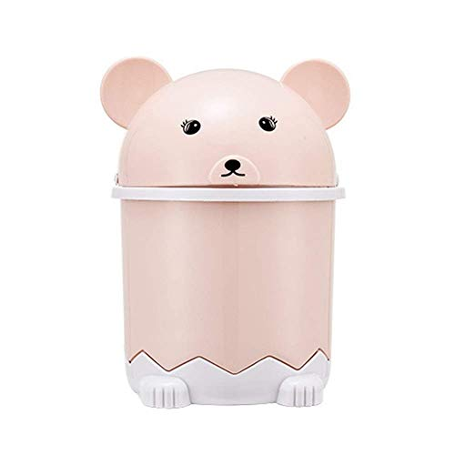 2 Stück/Edelplastikpapierkorb mit Deckel Lagerung Eimer Tischchen Debris Barrel Desktop-Papierkorb Kleinen Miniskirt Trash Can Bento Lunch Box for Kinder (Farbe: B) 1yess (Color : A)
