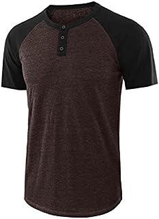 Wanxiaoyyyinnsdx Mens Henley Short Sleeve, Men's TShirts Casual O Neck Button Patchwork Short Sleeve T-shirt Top Men Daily...
