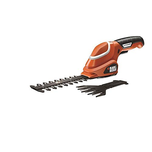 Black & Decker GSL700 Cordless Grass Shear - Cordless Grass Shears (Lithium, Black, Red)