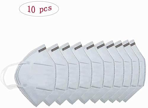 KN95 Medizinische Gesichtsmasken, FFP2, multifunktionale Schutzmaske mit Nasenklammer, 10 Stück