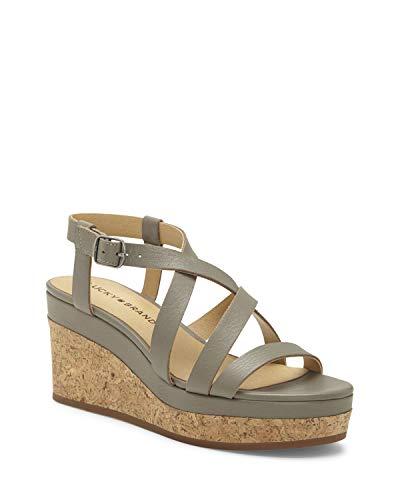 Lucky Brand Women's BATIKAH Wedge Sandal, Driftwood, 9.5