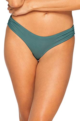 B Swim Sassy Pant Bikini Bottom Swimsuit, Dark Sage, Medium