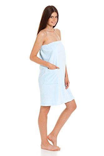 Revise RE-604 Toalla de sauna para mujer, con velcro y