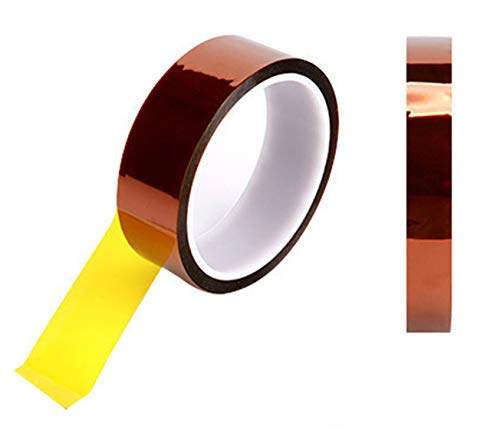 2 Rolls (10mm+15mm) 108ft High Temperature Heat Resistant Kapton Tape Polyimide Film Adhesive Tape for Sublimation for Heat Press No Residue (2 Rolls(10mm+15mm))