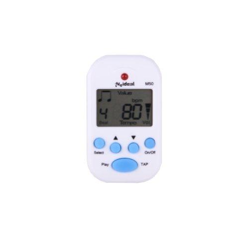 Well-Goal Meideal M50 White Mini-Metronomo digitale multifunzione, sconfiggere Tempo