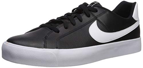 Nike Mens Court Royale AC Sneaker, Black/White, 42 EU