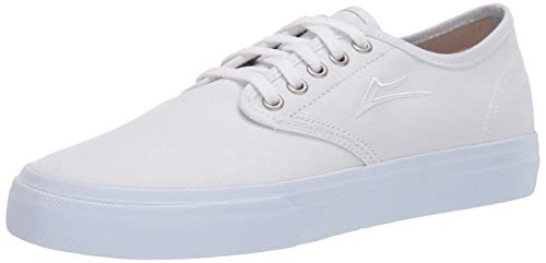 Lakai Limited Footwear Mens Oxford Skate Shoe, White Canvas,11 M US