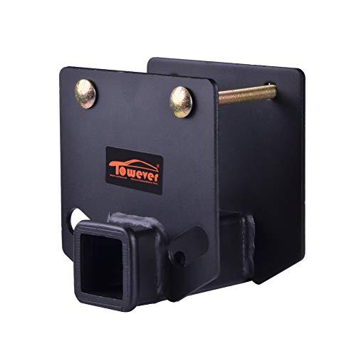 Towever 83803 RV Bumper Hitch 2 inches Receiver Adapter for 4 x 4 inches Square Bumper...