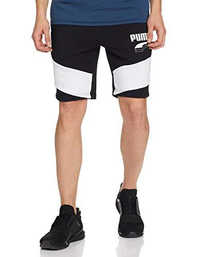 PUMA Rebel Block Shorts 9` Pantalones Cortos, Hombre, Black, S
