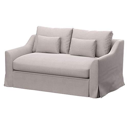 Soferia Funda de Repuesto para IKEA FARLOV sofá Cama de 2 plazas, Tela Elegance Beige, Blanco